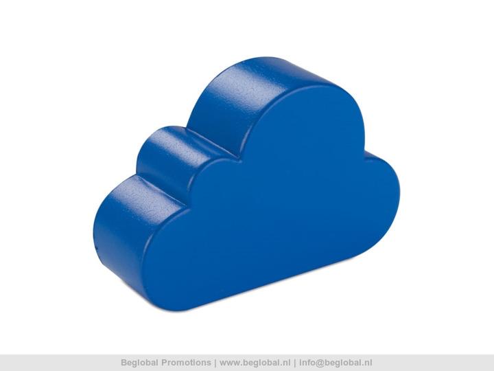 Relatiegeschenk * Anti-stress wolk Cloudy bedrukt met uw logo.